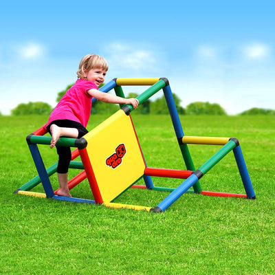 Quadro My First Introductory Kit Rugged Indoor/Outdoor Climber, Tot & Toddler Jungle Gym, Expandable Modular Component Playset, Giant Construction Kit, Educational Toy for Kids Ages 1-6 Years.