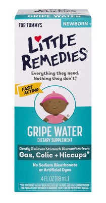 Little Remedies Fast Acting Gripe Water | Safe for Newborns | 4 FL OZ