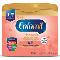 Enfamil A.R. Spit Up Baby Formula Gentle Milk Powder, 21.5 ounce - Omega 3 DHA, Probiotics, Immune & Brain Support