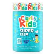 Clarity Kids (Super Calm), ADHD Supplements for Kids, 100% Natural ADHD Medicine for Kids Magnesium Supplement with L-theanine, Vitamin B and Vitamin D, Kids Focus Supplements (45 Day Supply)