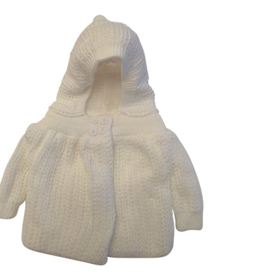 Baby Dove Knited (Popcorn Style) Crocheted Sweater Jacket with Hood - A Perfect Dressy Sweater Jacket