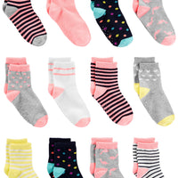 Simple Joys by Carter's Baby and Toddler Girls' 12-Pack Sock Crew