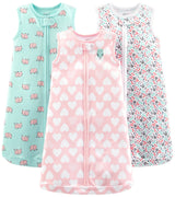 Simple Joys by Carter's Baby Girls' Microfleece and Cotton Sleepbags