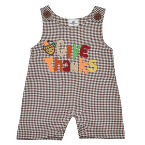 Unique Baby Boys Give Thanks 1st Thanksgiving Jon Jon Overall Outfit