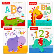 "Fisher-Price ""My First Books Set of 4 Baby Toddler Board Books (ABC Book, Colors Book, Numbers Book, Opposites Book)"