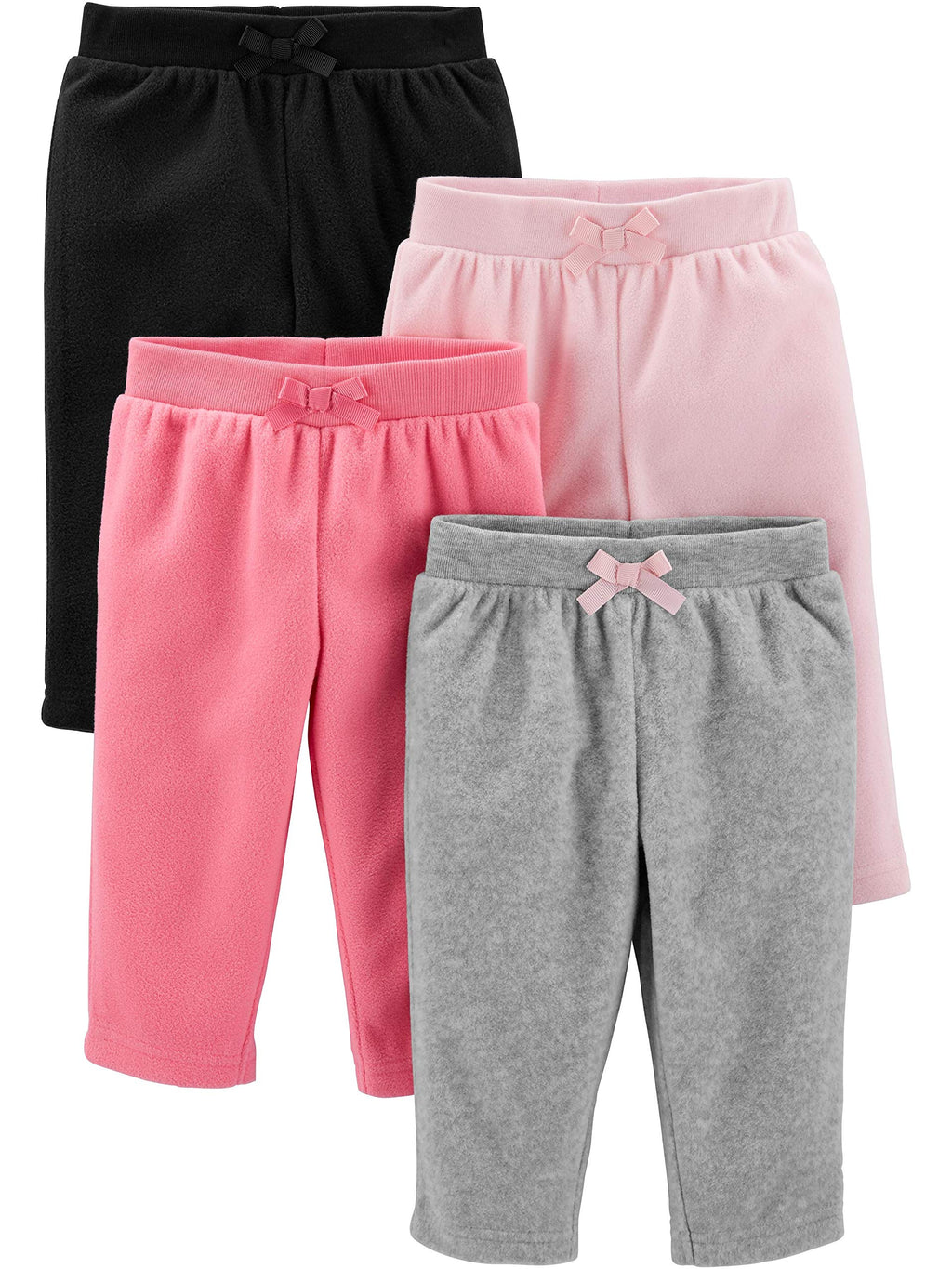 Simple Joys by Carter's Baby Girls' 4-Pack Fleece Pants