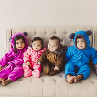 Cuddle Club Fleece Baby Bunting Bodysuit for Newborn to 4T - Infant Pajamas Winter Jacket Outerwear Coat Toddler Costume