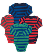 Leveret Baby Onesie Boys Girls 4-Pack Striped & Solid Baby Bodysuit Underwear 100% Cotton (3-24 Months)