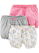 Simple Joys by Carter's Baby Girls' 3-Pack Bloomer Shorts