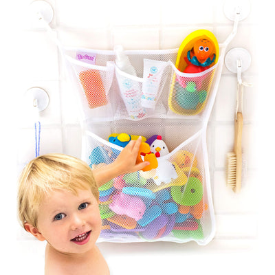 Tub Cubby Bath Toy Organizer + Baby Rubber Ducky - 14
