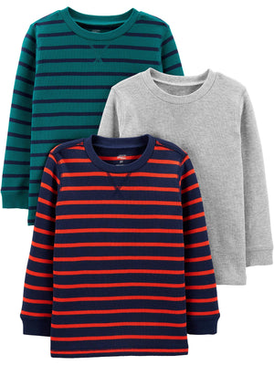 Simple Joys by Carter's Toddler Boys' 3-Pack Thermal Long Sleeve Shirts