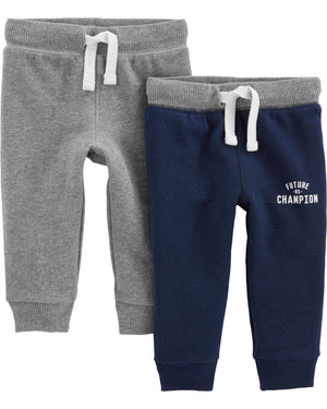Simple Joys by Carter's Baby and Toddler Boys' 2-Pack Athletic Knit Jogger Pants