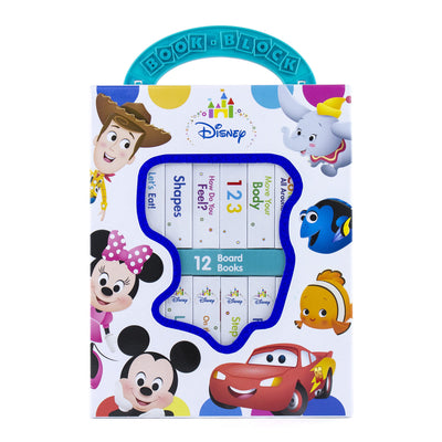 Disney Baby Mickey Mouse, Minnie, Toy Story and More! - My First Library Board Book Block 12-Book Set - PI Kids