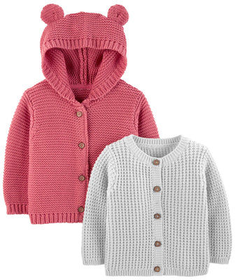 Simple Joys by Carter's Baby 2-Pack Knit Cardigan Sweaters