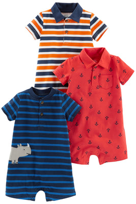 Simple Joys by Carter's Baby Boys' 3-Pack Rompers