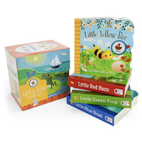 Nature Friends Lift-a-Flap Boxed Set 4-Pack: Little Red Barn, Little Blue Boat, Little Green Frog, and Little Yellow Bee (Chunky Lift a Flap)