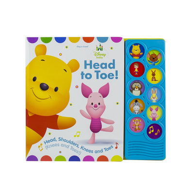 Disney Baby Winnie the Pooh - Head to Toe! 10-Button Sound Book - PI Kids (Disney Baby: Play-a-Sound)