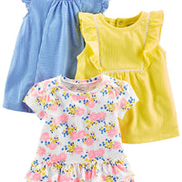 Simple Joys by Carter's Toddler Girls' 3-Pack Short-Sleeve Shirts and Tops
