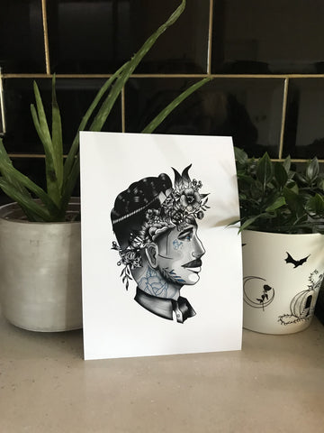 The Lovers - Him print - Bodies and Botanics