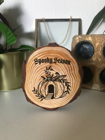 Spooky Season Wood slice
