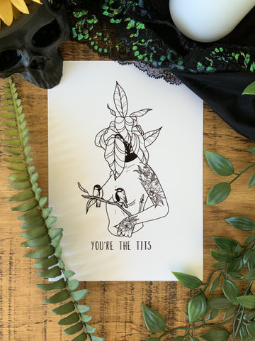 You're the Tits Print - Bodies and Botanics
