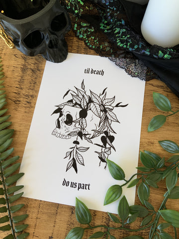 Til Death Print - Bodies and Botanics