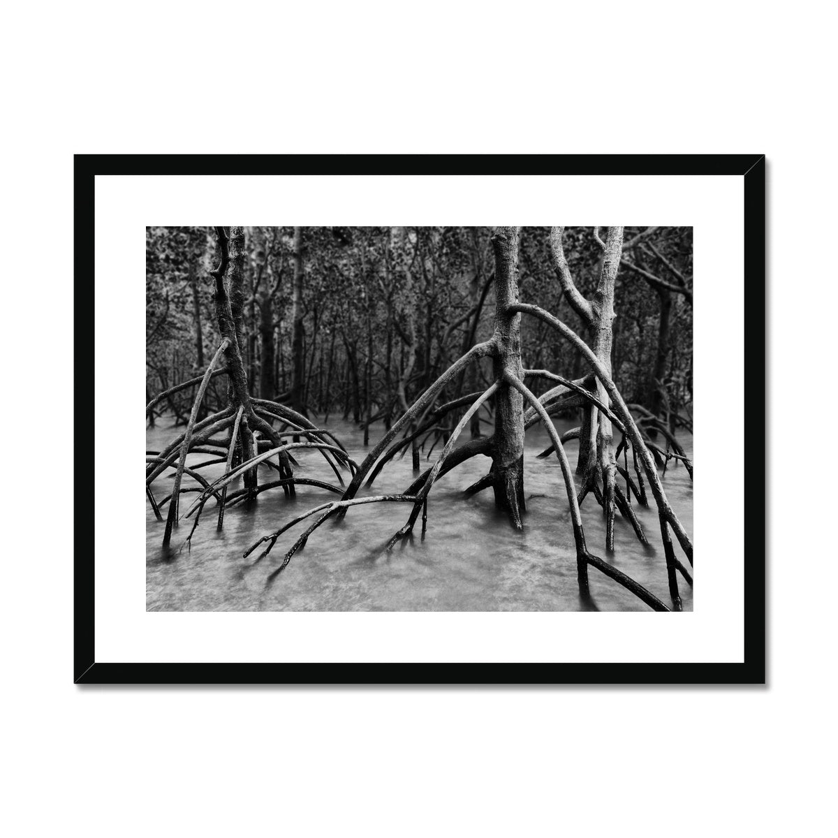 Inverse Present. Framed & Mounted Print