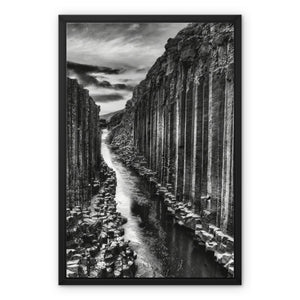 Rampart's Journey. Framed Canvas