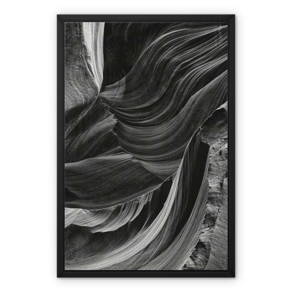 Broken Canyon. Framed Canvas