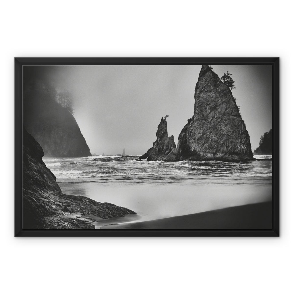 Unpredictable Gale. Framed Canvas