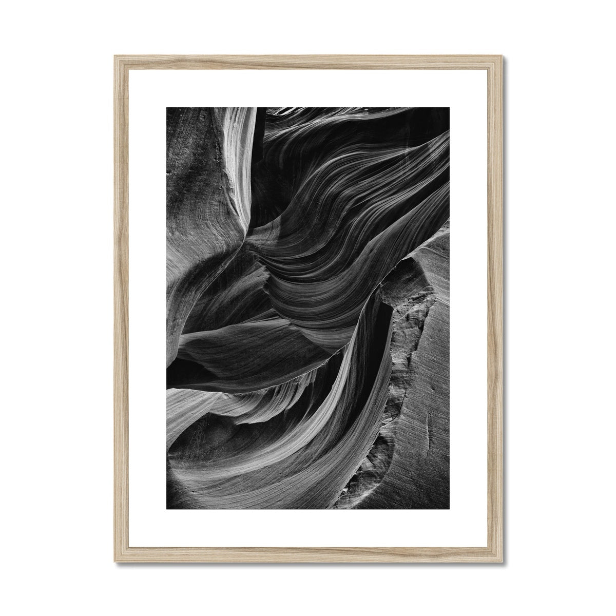 Broken Canyon. Framed & Mounted Print