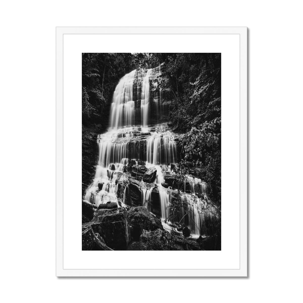 Gentle Descent. Framed & Mounted Print
