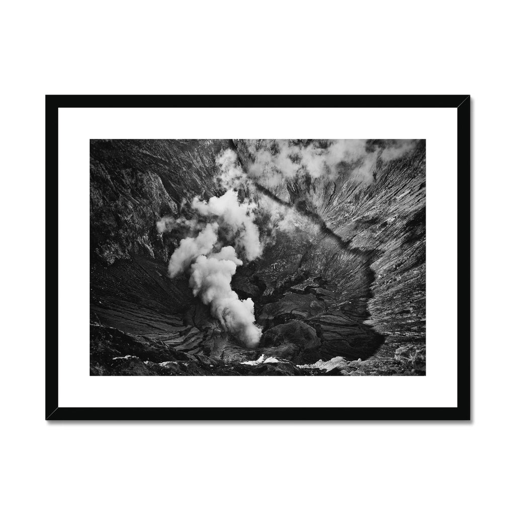 Regards From the Volcano. Framed & Mounted Print