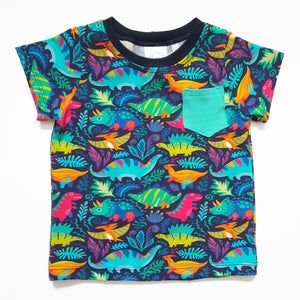 Dino Party Tee with Pocket