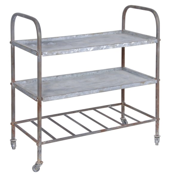 Distressed Metal Trolley