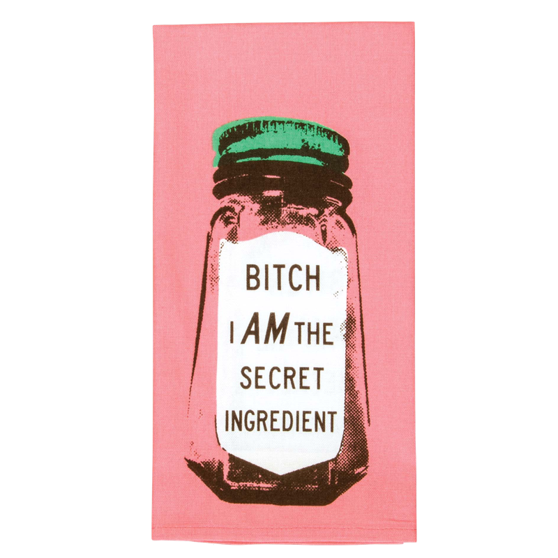 bitch-i-am-the-secret-ingriedent-tea-towel-by-blueq