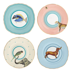 Set Of 4 Animal Cake Plates