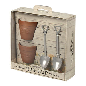 Flower Egg Pots & Shovels