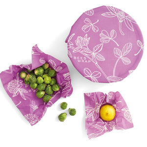 Bee's Wrap Set Of 3 Clover Assorted Sizes