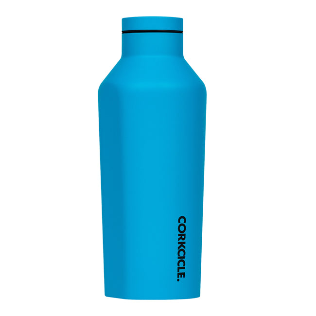 Neon Blue Corkcicle 9oz Canteen