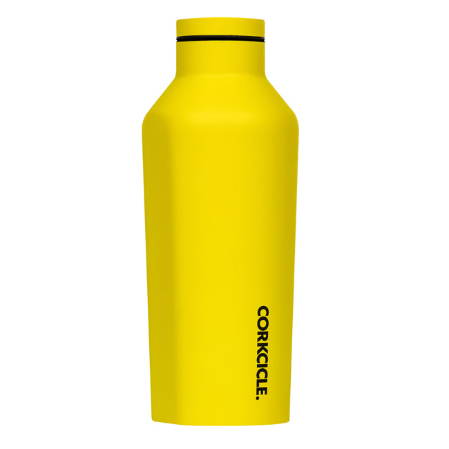 Neon Yellow Corkcicle 9oz Canteen