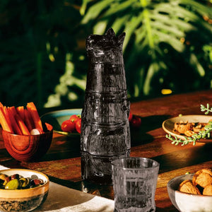 Black Kitty Stackable Glasses