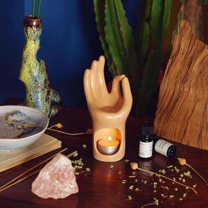 Om Meditation Hand Essential Oils Burner