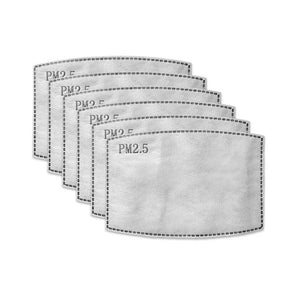 Replacement Carbon Filters For Face Masks (Pack Of 6)