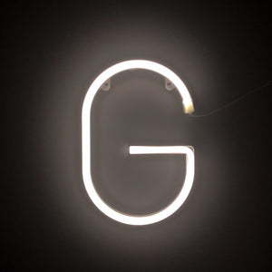 Individual White Neon Letters