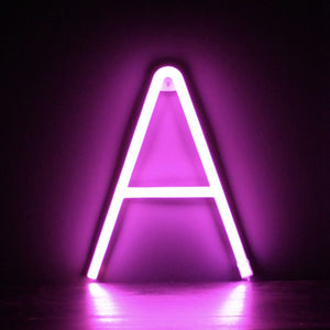 Individual Pink Neon Letters