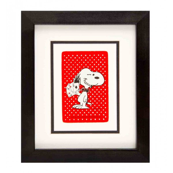 KL72-framed-vintage-snoopy-playing-card-snoopy-winking-playing-cards