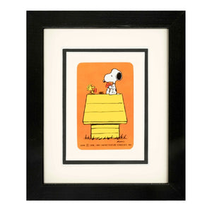 kl73-vintage-playing-crads-framed-snoopy-and-woodstock-playing-card