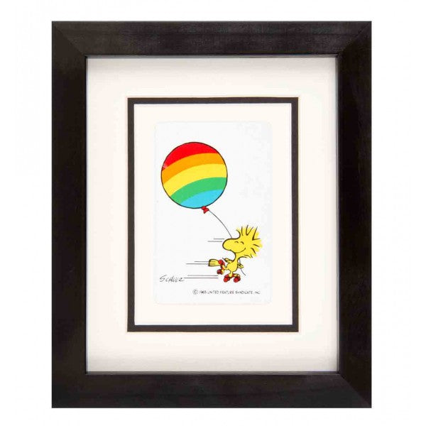 kl84-vintage-playing-cards-snoopy-woodstock-rainbow-balloon-framed-playing-card-artwork