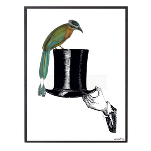 Hat With Bird Framed Print